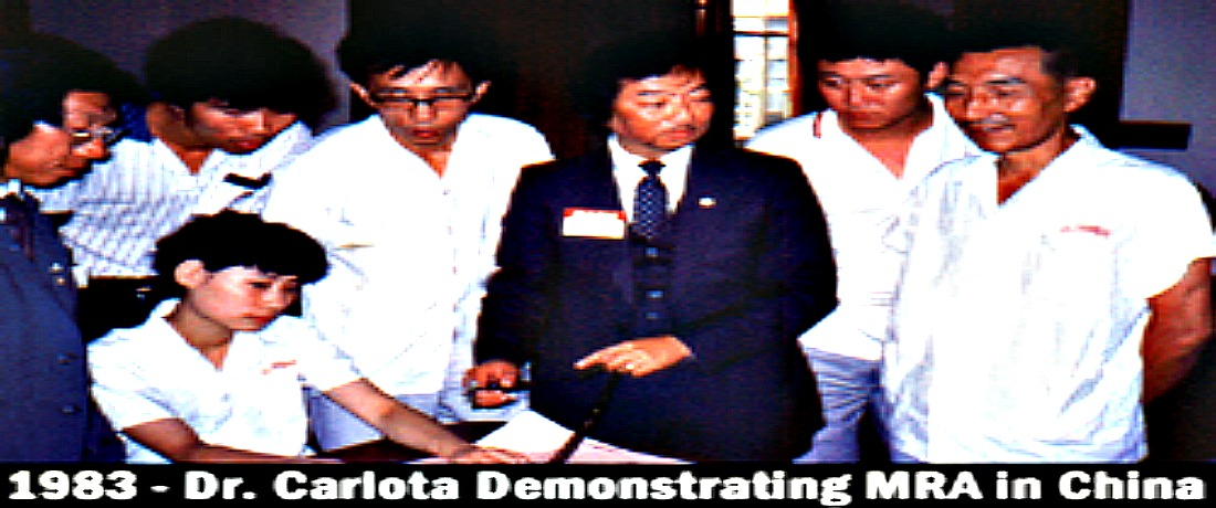 1983 - Dr. Carlota Demonstrating MRA In China